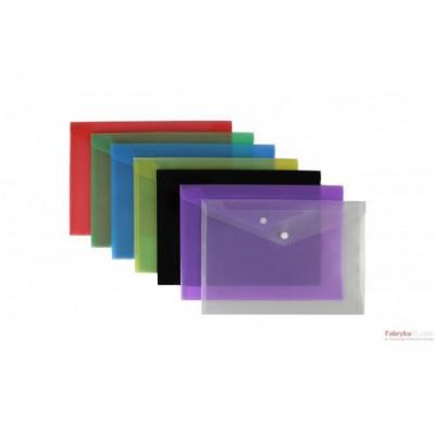 Teczka kopertowa A4 SATYNA - niebieska BIURFOL