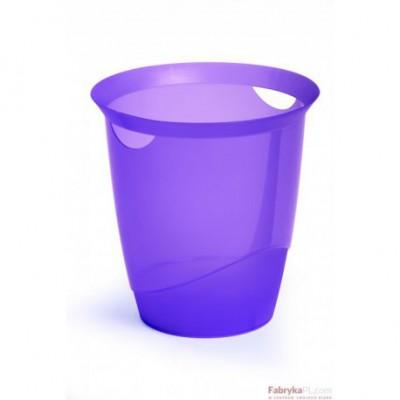 Kosz na śmieci DURABLE TRENDY 16l transparentny fiolet
