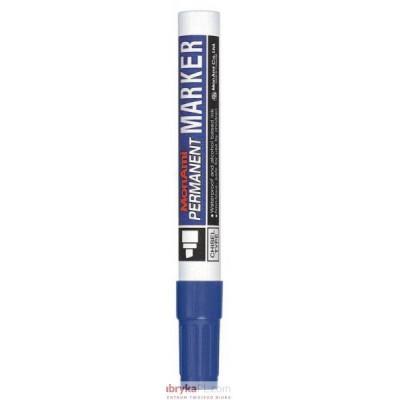 Marker MONAMI PERMANENT ścięta końcówka C niebieski (aluminiowa obudowa)