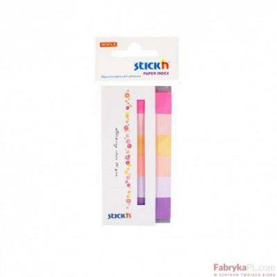 Zakładki indeksujące papierowe 45x15 mm 6 kolorów neonowych SPRING 180 kartek Stick'n