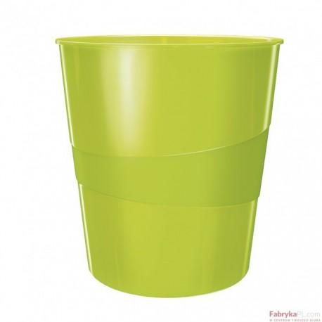 Kosz na śmieci 15L Leitz WOW, zielony metalik