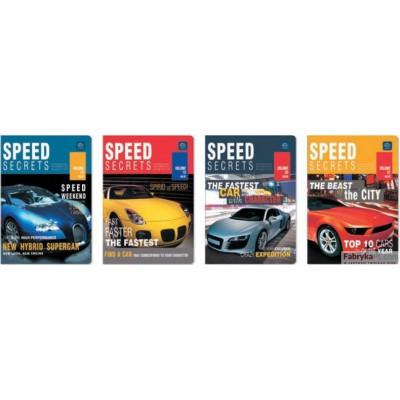 Zeszyt A5 16 kratka UV Kolekcja nr 303 Speed Secrets INTERDRUK