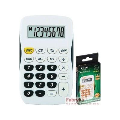 Kalkulator kieszonkowy TR-295 TOOR biało-czarny