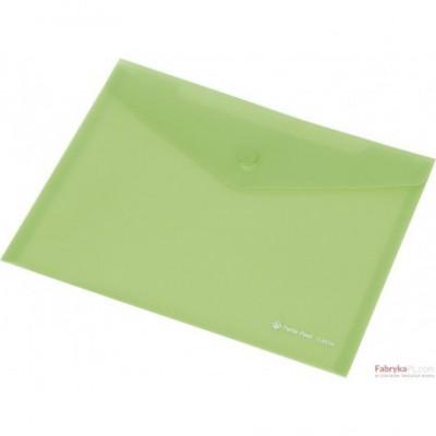 Teczka kopertowa z napą PP FOCUS A7 przezroczysta zielona Panta Plast