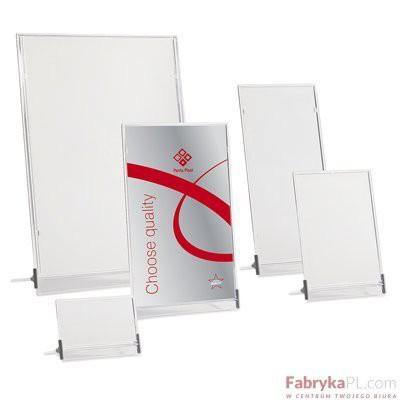 TAbliczka stojąca jednostronna PANTA-PLAST 15 X 23 CM