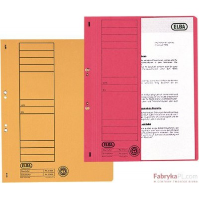 Skoroszyt kartonowy 1/2 A4 oczkowy czerwony 100551882 ELBA