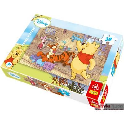 Puzzle Kubuś Puchatek Kubusiowe zabawki 30 elementów TREFL 18153