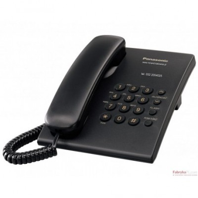Telefon przewodowy PANASONIC KXTS500 czarny