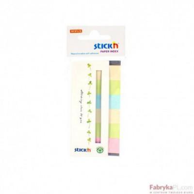 Zakładki indeksujące papierowe 45x15 mm 6 kolorów neonowych ECO 180 kartek Stick'n