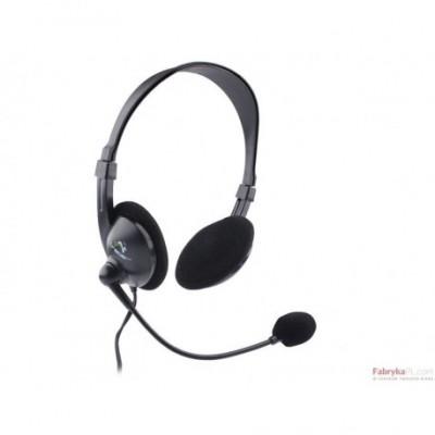 Słuchawki z mikrofonem TRACER OMNI TRS-301M (301 MV) Mini-jack Czarny