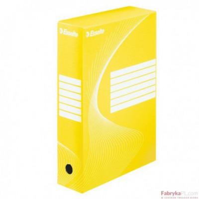 Pudełka archiwizacyjne ESSELTE BOXY 80 mm, żółte
