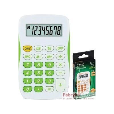 Kalkulator kieszonkowy TR-295 TOOR kieszonkowy biało-zielony