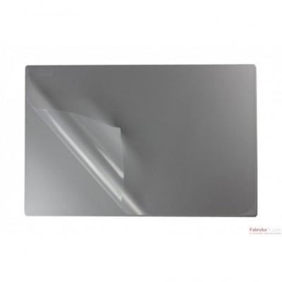 Podkład na biurko z folią 38x58 silver BIURFOL