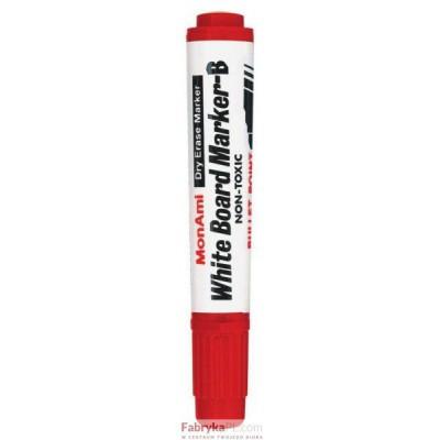 Marker MONAMI WHITE BOARD okrągła końcówka B/12 czerwony