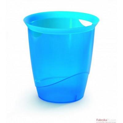 TREND kosz na śmieci 16 l, niebieski-przezroczysty
