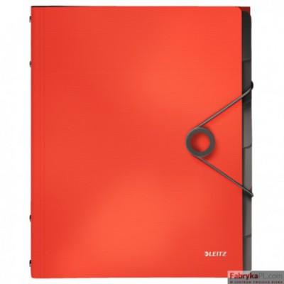Teczka segregująca 6 przekładek PP Leitz Solid, jasnoczerwona 45691020