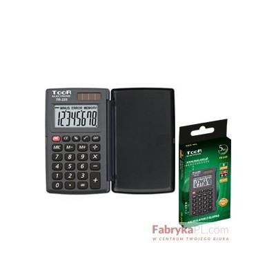 Kalkulator kieszonkowy TOOR TR-225 8-pozycyjny z klapką