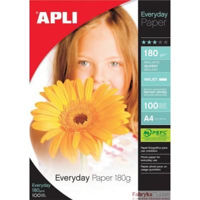 Papier Foto APLI 10x15 180g błyszczący (glossy)100