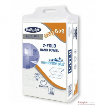 BulkySoft Luxury 83451 Z-Fold Membrane plus, ręcznik papierowy 3 warstwy 2940 sztuk