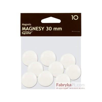 Magnesy średnica 30 mm biały 10 szt. Grand