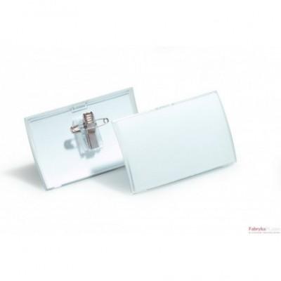 Identyfikator CLICK FOLD o wymiarach 54x90 mm z kombi klipem do szerokiego zastosowania. Opakowanie 25 szt. Durable