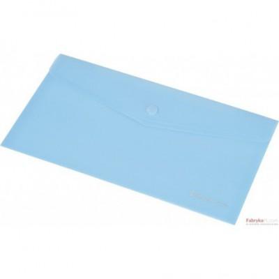 Teczka kopertowa z napą PP FOCUS A6 przezroczysta niebieska Panta Plast