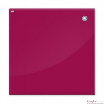 Tablica szklana magnetyczna 45x45 cm czerwona 2x3