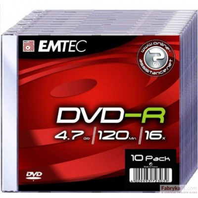 Płyta EMTEC DVD-R 4.7GB x16 Slim Jawel Case