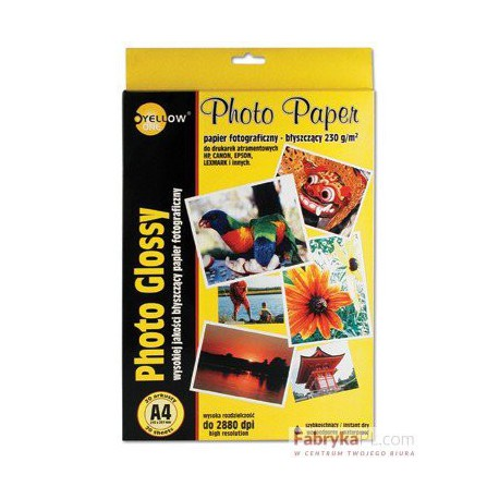 Papier foto Yellow One A4 130g A20 błysz. (4G130)