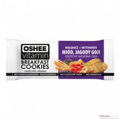 Oshee Vitamin Ciasteczka zbożowe 50g miód /jagody Goji/orzechy/nasiona CHIA