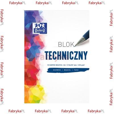 Blok techniczny biały OXFORD A4 10k 250G