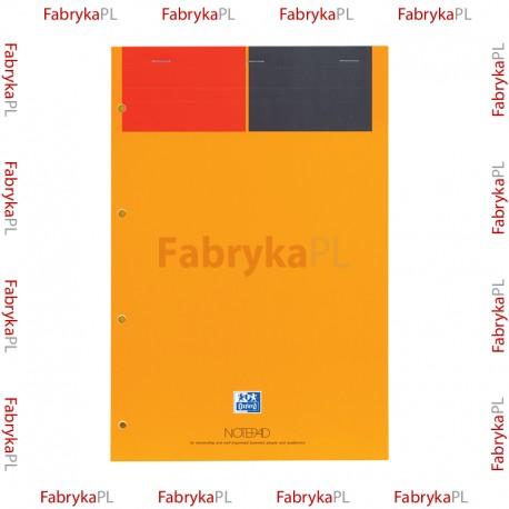 Blok notatnikowy A4+ OXFORD INTERNATIONAL Notepad 80 żółtych kartek linia