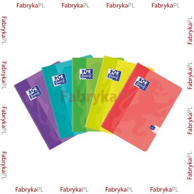 Zeszyt A5 OXFORD SWEET 16 kartek podwójna linia kolorowa