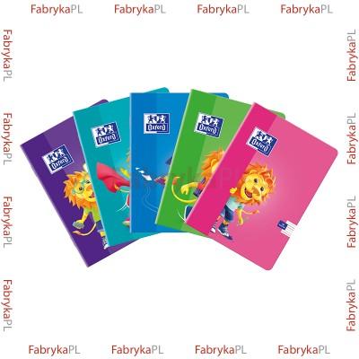 Zeszyt A5 OXFORD LION 16 kartek podwójna linia kolorowa