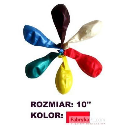 """Balon GRAND 10"""" metal czerwony 100szt"""
