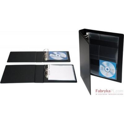 Segregator multimedialny BANTEX na 20 CD/DVD z opakowaniem 2ringowy