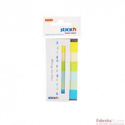 Zakładki indeksujące papierowe 45x15 mm 6 kolorów neonowych SUMMER 180 kartek Stick'n