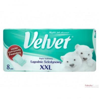 Papier toaletowy VELVET XXL 3-war.(8)seledyn 9023
