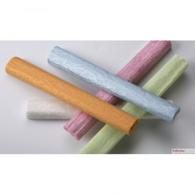 Bibuła marszczona 25x200cm - perłowa, biały, 5 rolek HA 3640 2520-100 Happy Color