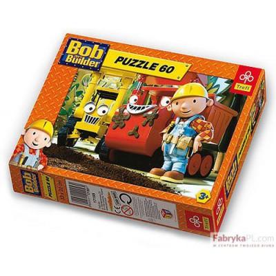 """Puzzle """"Budowa drogi"""" Bob Budowniczy 60 elementów TREFL 17155"""