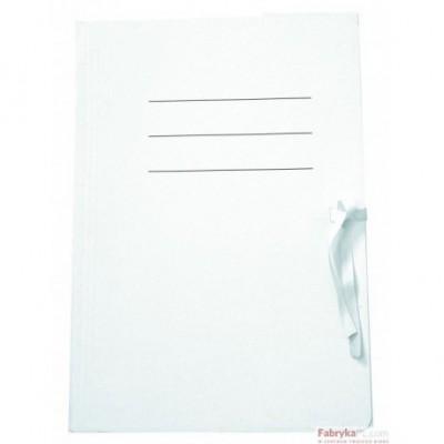 Teczka biurowa wiązana do akt, biała A4 - 350g/m2 Unipap