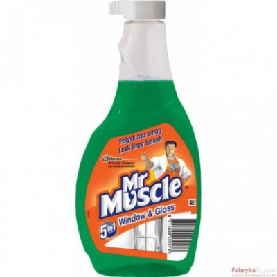 Płyn do szyb MR MUSCLE 500ml zielony - zapas