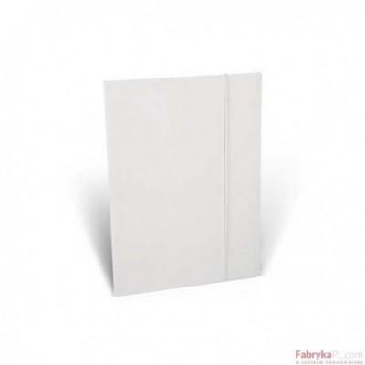 Teczka biurowa z gumką, biała A4 - 350g/m2 Unipap
