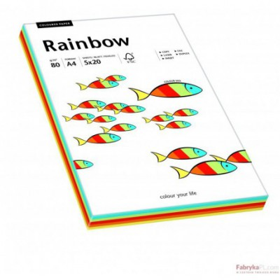 Papier xero kolorowy Rainbow mix Intensywny odcień