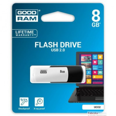 Pamięć USB GOODRAM 8GB UCO2 BLACK&WHITE USB 20