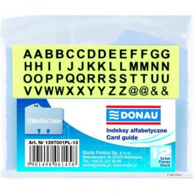 Indeksy alfabetyczne DONAU 12szt