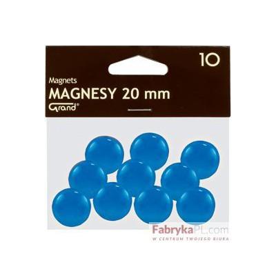 Magnesy średnica 20 mm niebieski 10 szt. Grand