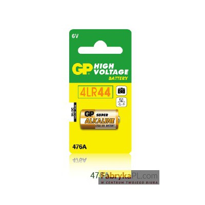 Bateria alkaliczna wysokonapięciowa GP PX28A / 4LR44 6.0V GPPBA47AF001