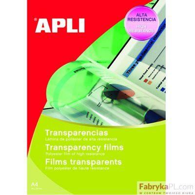 Folia APLI A4 do rzutników 210 x 297mm do pisania ręcznego