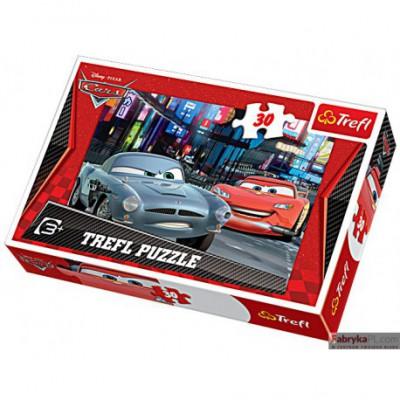 Puzzle Auta Niebezpieczne spotkanie 30 elementów TREFL 18162